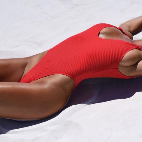 Dámské jednodílné plavky Briana - red