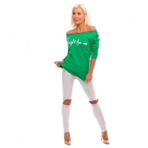 Dámská ležérní halenka Bright for me - zelená