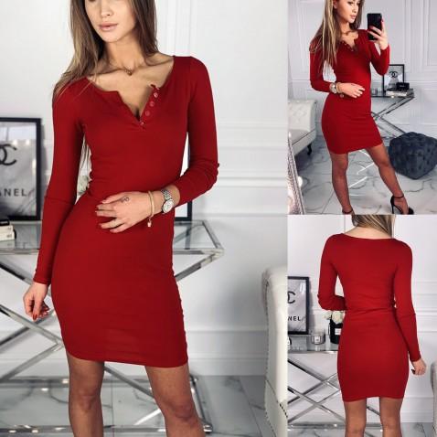 Dámské elastické šaty Penelope - červené
