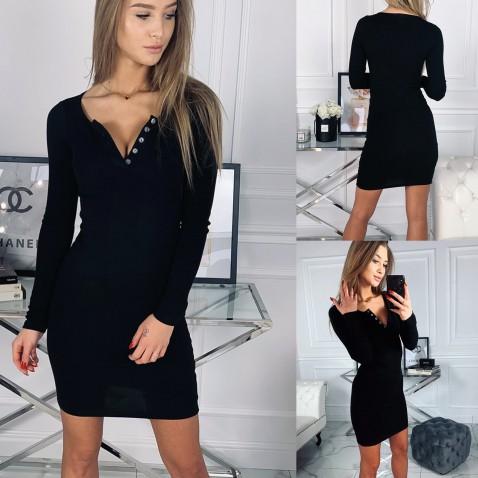 Dámské elastické šaty Penelope - černé