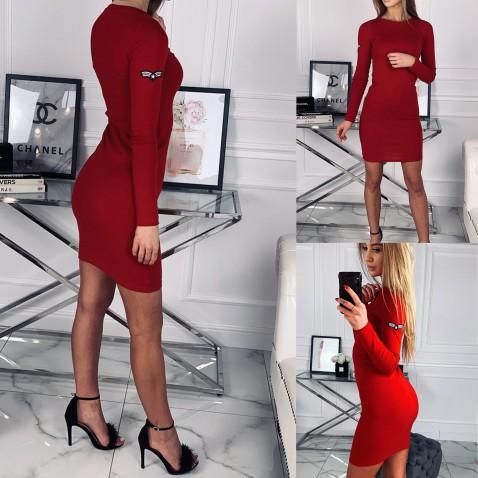 Dámské elastické šaty Sergeant Red