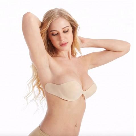 Samodržící push up korzetová podprsenka - tělová