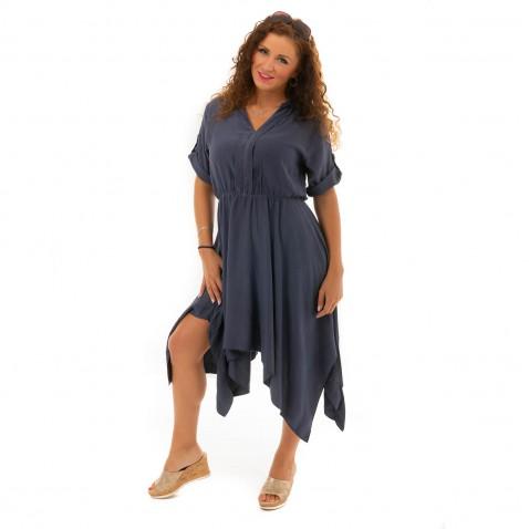 Košilové šaty - modré