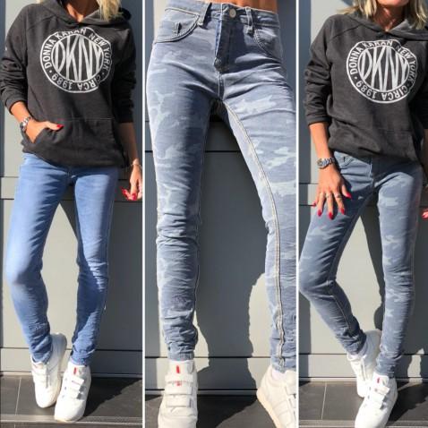 Oboustranné skinny jeans 2v1