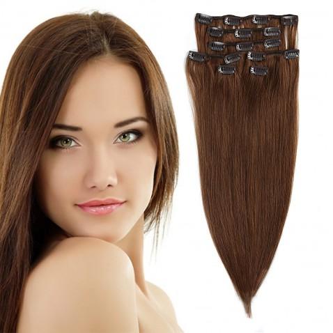 Clip in vlasy 51 cm lidské – Remy 70 g - odstín 6