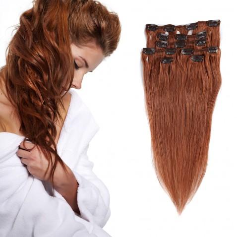 Clip in vlasy 51 cm lidské – Remy 70 g - odstín 30