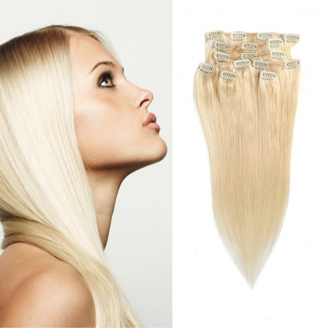 Clip in vlasy 55 cm lidské – Remy 70 g - odstín 613