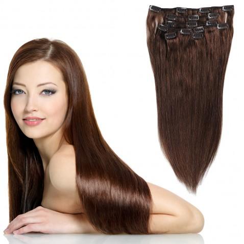 Clip in vlasy 55 cm lidské – Remy 70 g - odstín 4