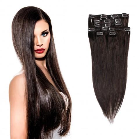 Clip in vlasy 55 cm lidské – Remy 70 g - odstín 2