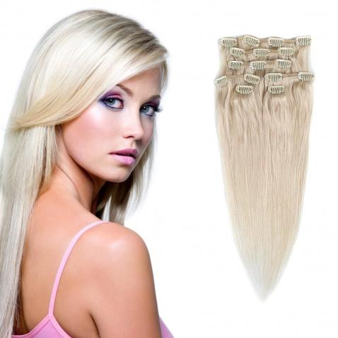 Clip in vlasy 55 cm lidské – Remy 70 g - odstín 60