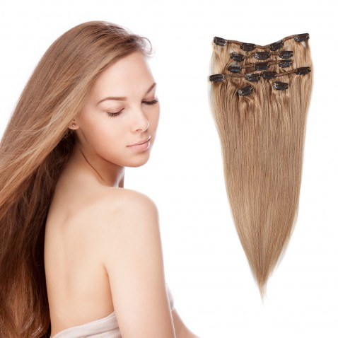Clip in vlasy 55 cm lidské – Remy 70 g - odstín 27