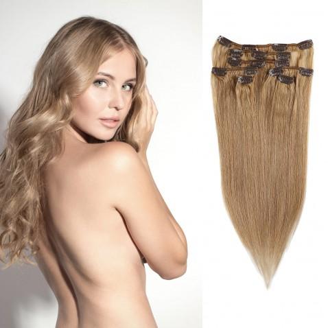 Clip in vlasy 55 cm lidské – Remy 70 g - odstín 12