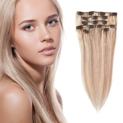 Clip in vlasy 55 cm lidské – Remy 70 g - odstín P18/613