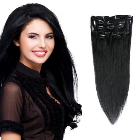 Clip in vlasy 55 cm lidské – Remy 70 g - odstín 1#