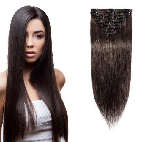 Clip in vlasy 51 cm lidské – Remy 100 g - odstín 2