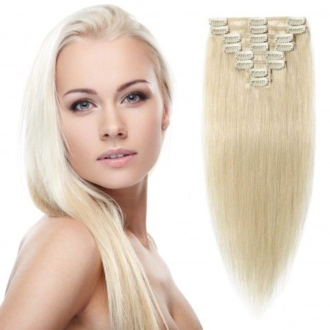 Clip in vlasy 51 cm lidské – Remy 100 g - odstín 60