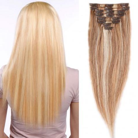 Clip in vlasy 51 cm lidské – Remy 100 g - odstín 18/613