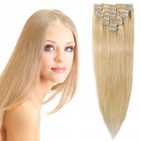 Clip in vlasy 55 cm lidské – Remy 100 g - odstín 613