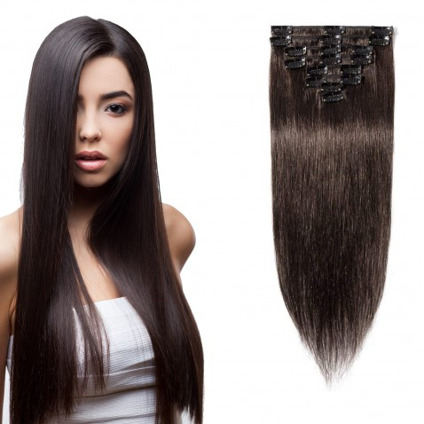 Clip in vlasy 55 cm lidské – Remy 100 g - odstín 2