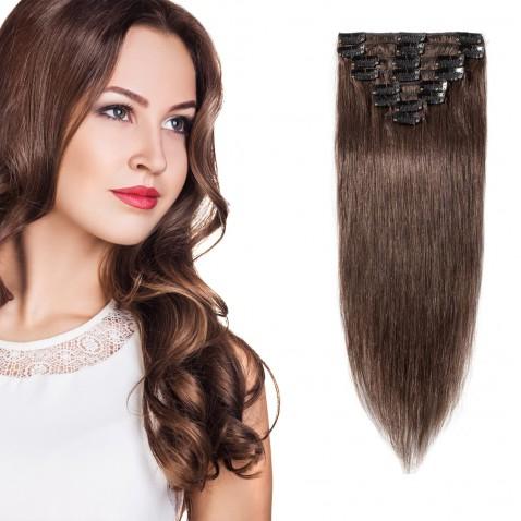 Clip in vlasy 55 cm lidské – Remy 100 g - odstín 4