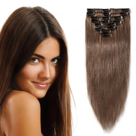 Clip in vlasy 55 cm lidské – Remy 100 g - odstín 6