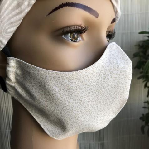 Tvarovaná textilní rouška dvouvrstvá