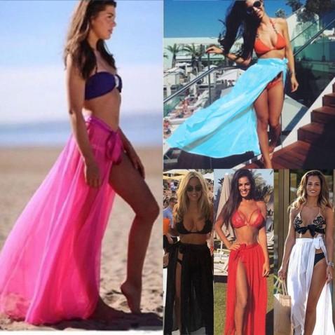 Plážová sukně na zavazování