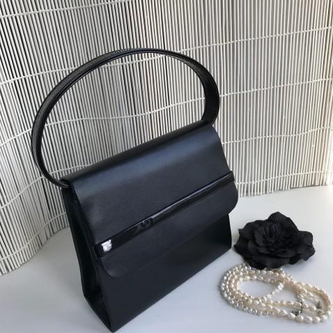 Plesová kabelka - imitace kůže a latex - černá