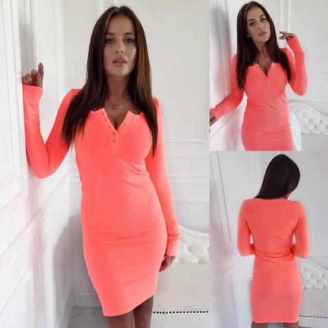 Dámské elastické šaty Penelope - coral