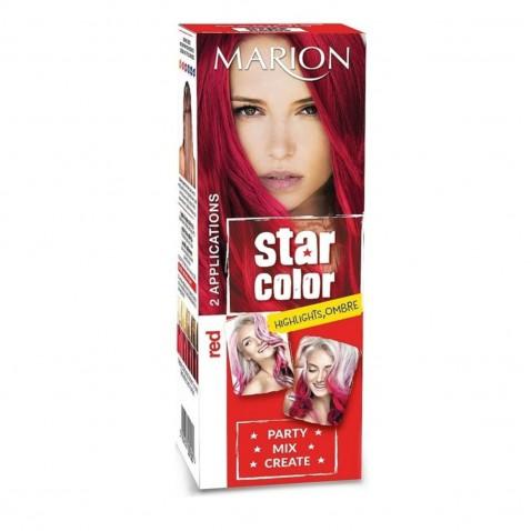 Marion Star Color smývatelná barva na vlasy Red, 2 x 35 ml