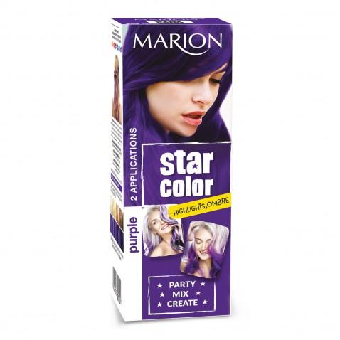 Marion Star Color smývatelná barva na vlasy Purple, 2 x 35 ml