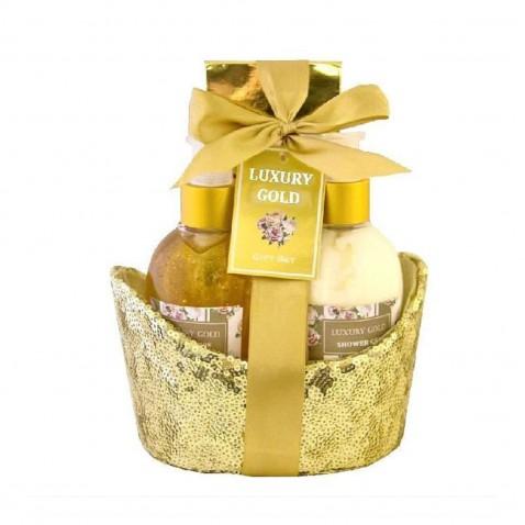 Salsa Collection Dárková kosmetická sada Gold peony & jasmine,  3 - dílná
