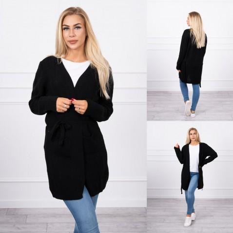 Dámský pruhovaný svetr - Black