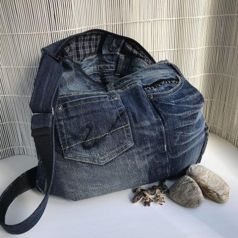 Džínová kabelka tmavě modrá