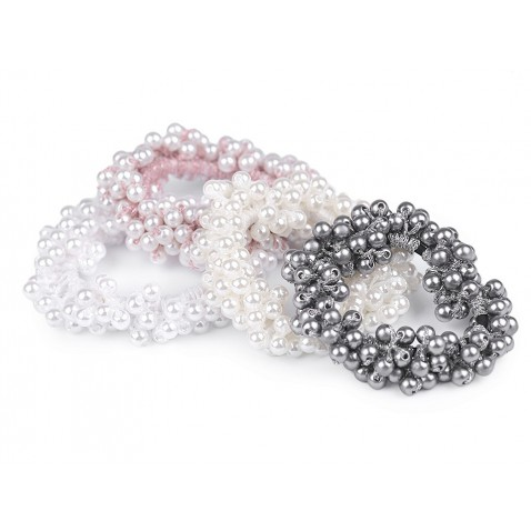 Vlasová gumička z perliček - Pearl
