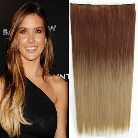 Clip in vlasy - rovný pás - ombre - odstín 30 PT 24