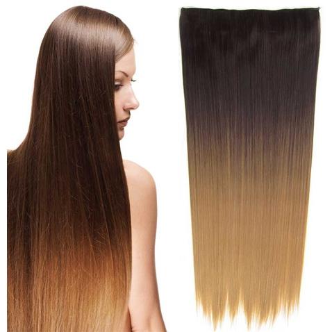 Clip in vlasy - rovný pás - ombre - odstín 4 T 27