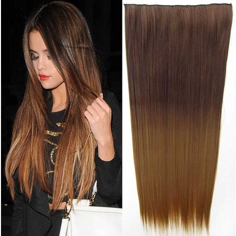 Clip in vlasy - rovný pás - ombre - odstín 8 T 27