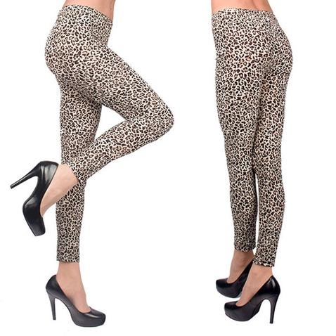 Leginy - gepardí vzor - hnědý