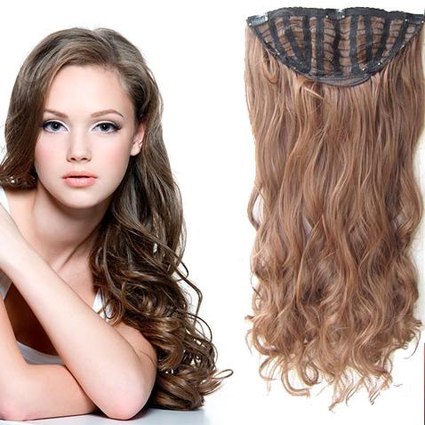 Clip in pás vlasů - Jessica 60 cm vlnitý - odstín M4/30