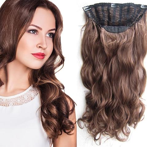 Clip in pás vlasů - Jessica 60 cm vlnitý - odstín 8