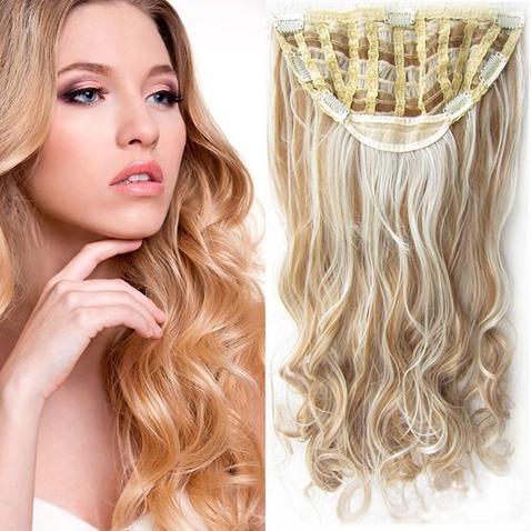 Clip in pás vlasů - Jessica 60 cm vlnitý - odstín F27/613