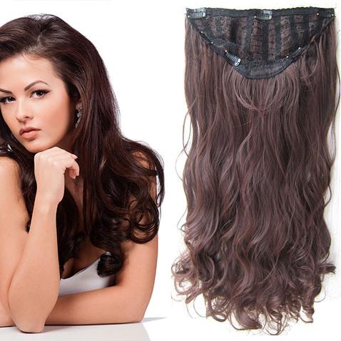 Clip in pás vlasů - Jessica 60 cm vlnitý - odstín M2/33