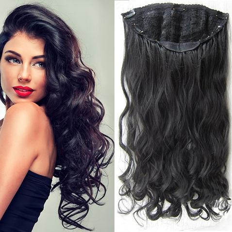 Clip in pás vlasů - Jessica 60 cm vlnitý - odstín 1B