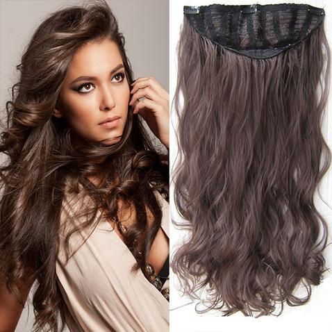 Clip in pás vlasů - Jessica 60 cm vlnitý - odstín 4