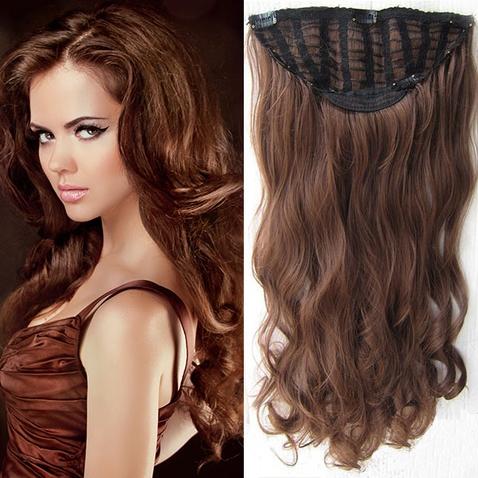 Clip in pás vlasů - Jessica 60 cm vlnitý - odstín M2/30