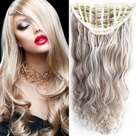 Clip in pás vlasů - Jessica 60 cm vlnitý - odstín F8/613