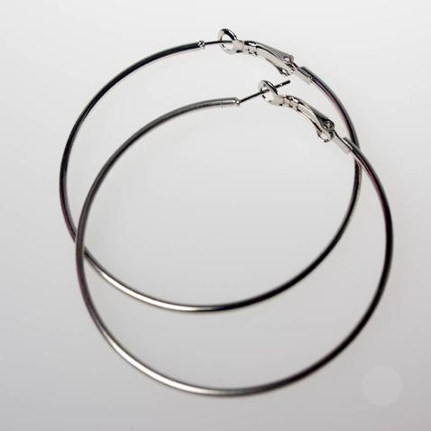 Náušnice - kruhy - stříbrné