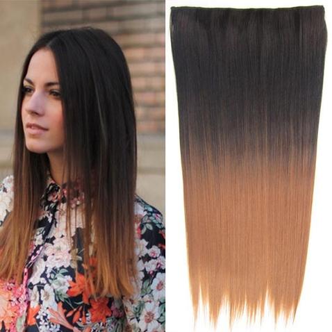 Clip in vlasy - rovný pás - ombre - odstín 2 T 30