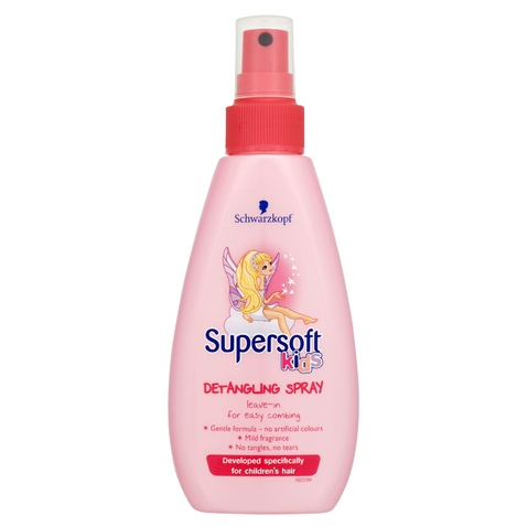 Rozčesávač vlasů ve spreji Schwarzkopf Supersoft Kids, 150 ml